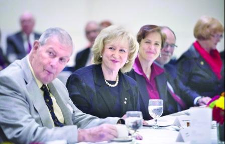 前加拿大女总理金宝2015年4月22日在温哥华出席加拿大会所会议.(